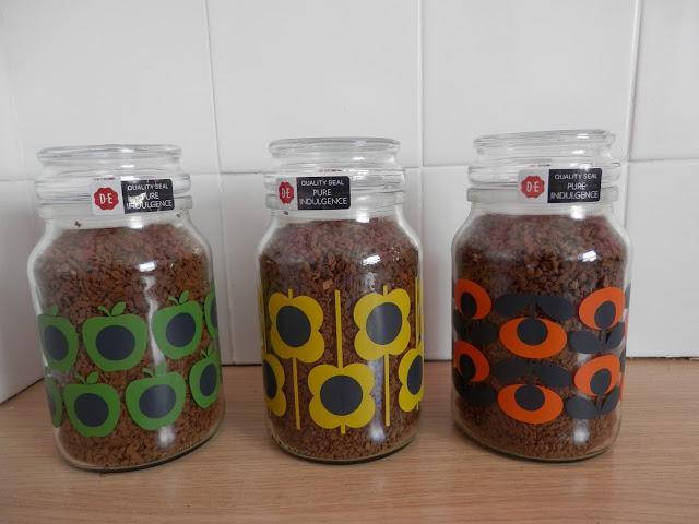 special Orla Kiely Douwe Egberts coffee jars