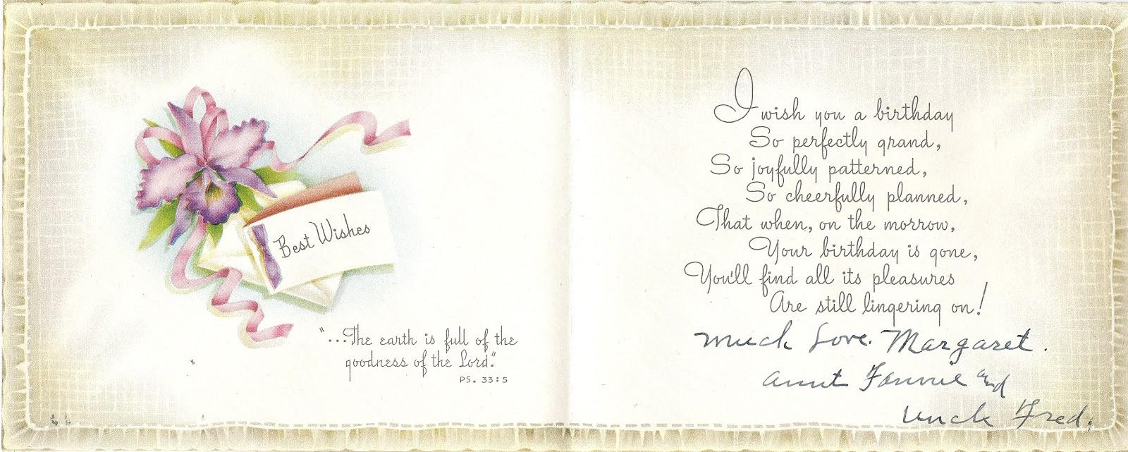Fred And Fanny Gantenbeins Card