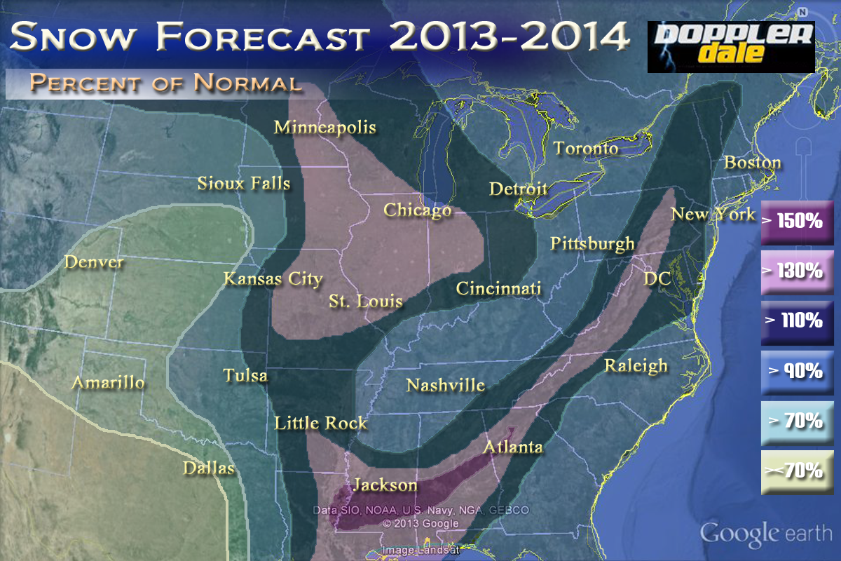 Snowfall Prediction For 2013 2014