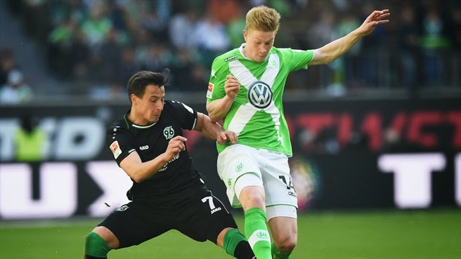 Highlights Wolfsburg 2 – 2 Hannover (Bundesliga)