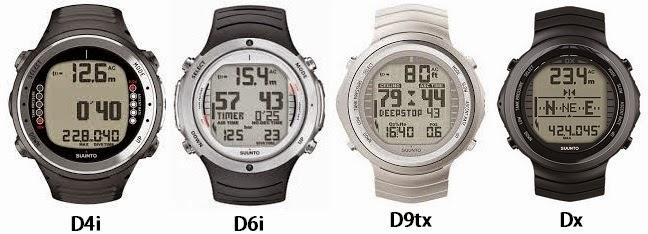 Suunto D4i D6i, D9tx, Dx