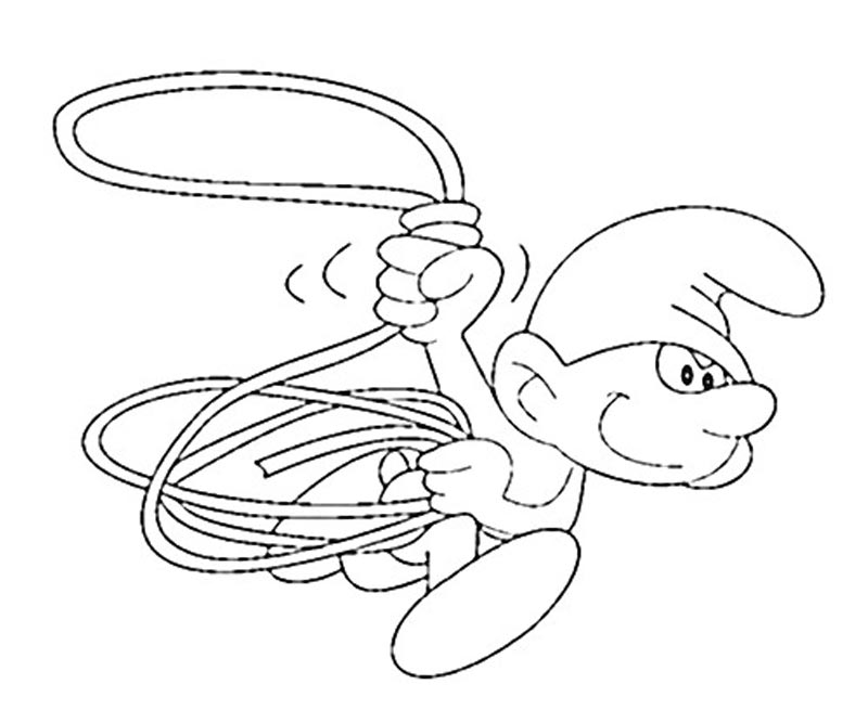 #11 Clumsy Smurf Coloring Page