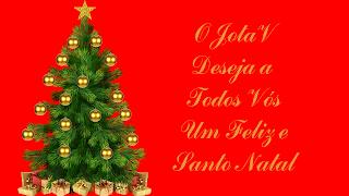 Feliz Natal JV_Arvore de Natal com Estrela e prendas e bolinhas_in red
