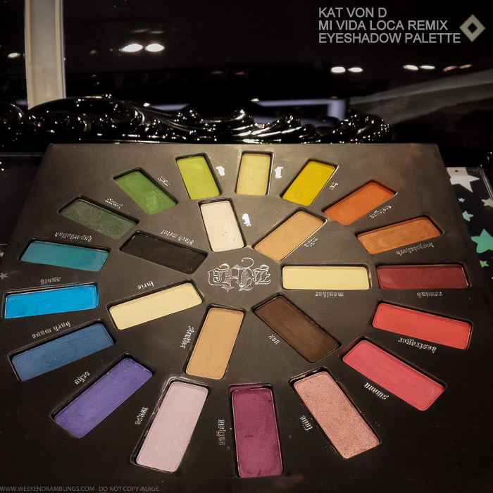 Kat Von D Mi Vida Loca Remix Eyeshadow Palette for Holidays 2015 Photos Swatches