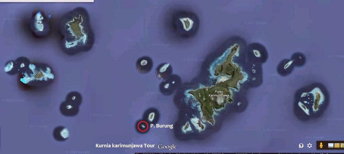 lokasi pulau burung dari karimunjawa