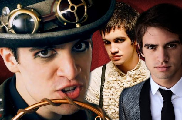 triptych of Brendon Urie, looking all sexy