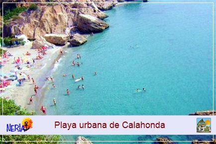 Se accede a la playa a traves del Boquete de Calohonda, denominación popular dada por los nerjeños a la original entrada de la que dispone esta playa, un arco morisco