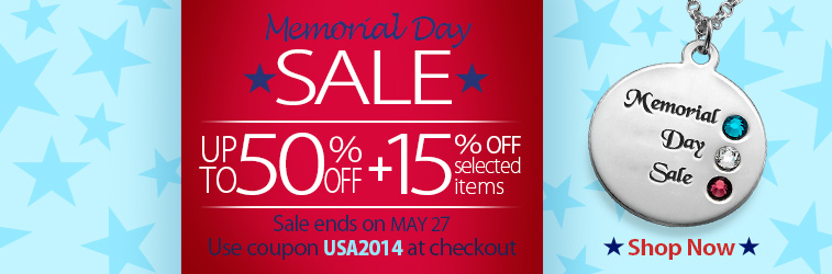 Memorial Day Sale at MyNameNecklace