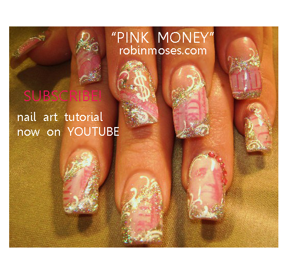 Robin moses nail art pink money nail art design retro circles pink money nail art design retro circles geometric nail art retro nail art rainbow retro nail art tutorial designs up for wednesday prinsesfo Images