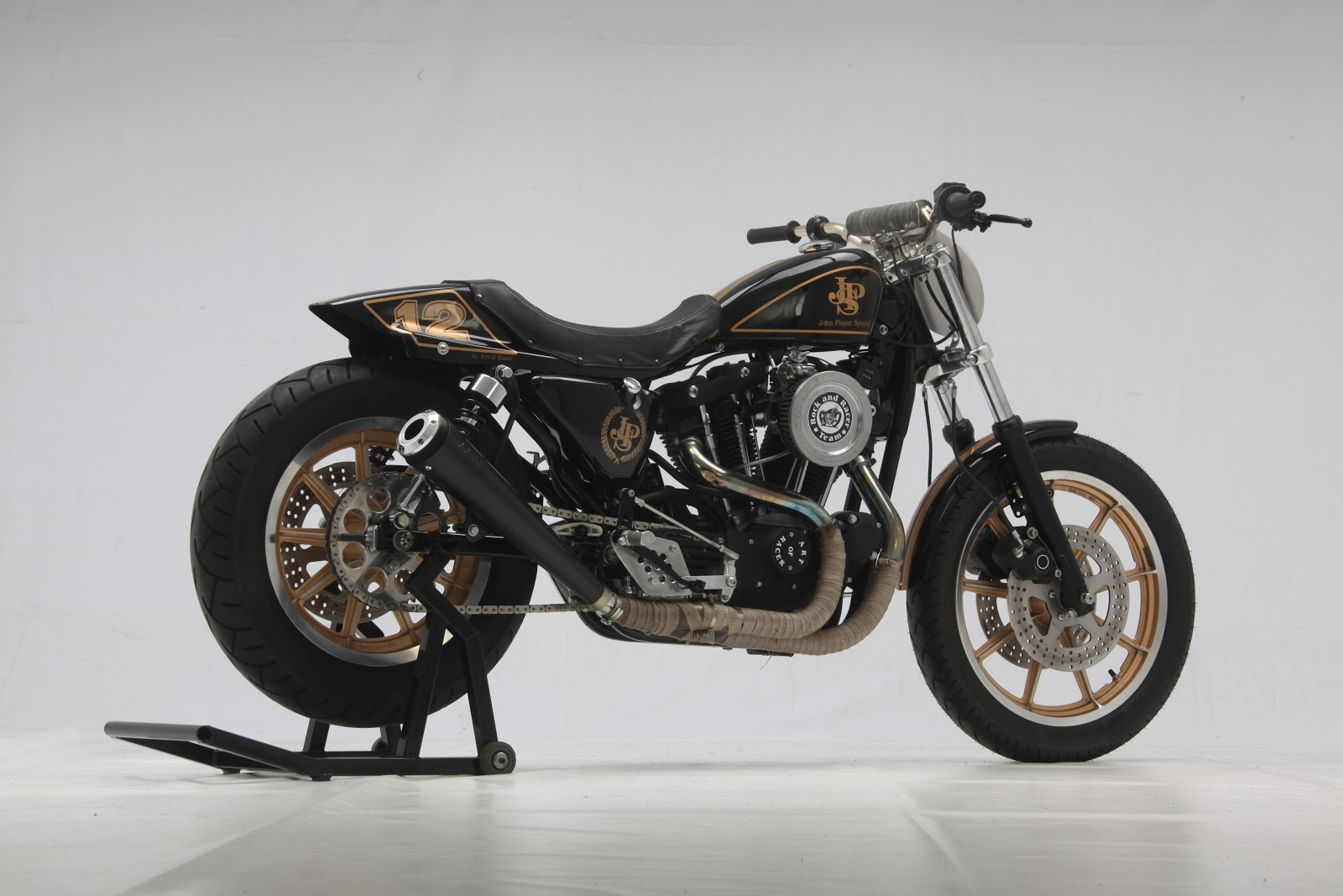 Racing Caf U00e8  Harley Sportster 1000 Jps By Art Of Racer