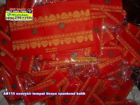 souvenir tempat tissue spunbond batik grosir