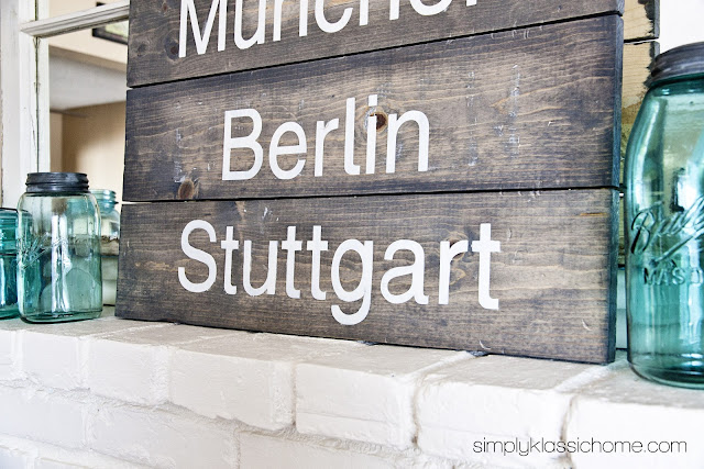 Cities of Germany Rustic Wood Planked Sign