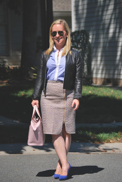what to wear to work, jcrew sparkle tweed