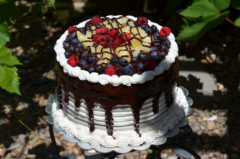 Chocolate Layer Cake With Fruit Filling