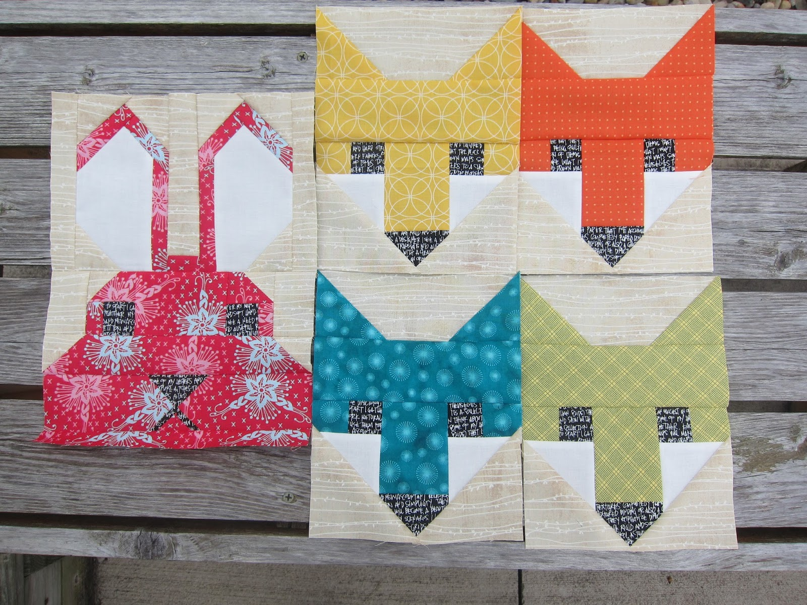in forest finished the geese img quilt