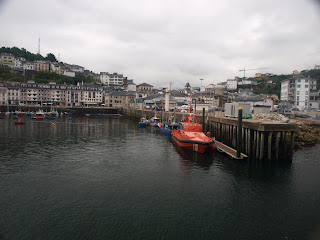 Vista del puerto de Luarca. View of the port of Luarca