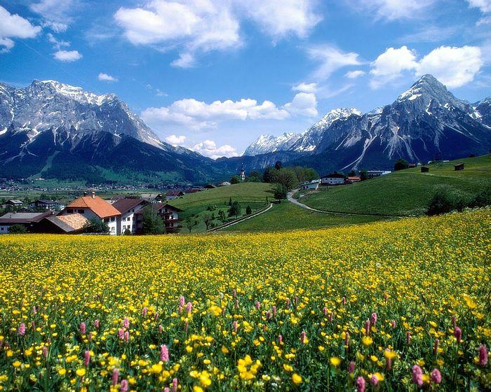 Paisaje en Los Alpes