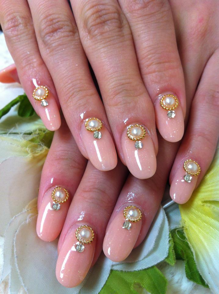 Pink & Pearl Nails by Ayano - ♥Cute Nail Designs♥: Pink & Pearl Nails By Ayano