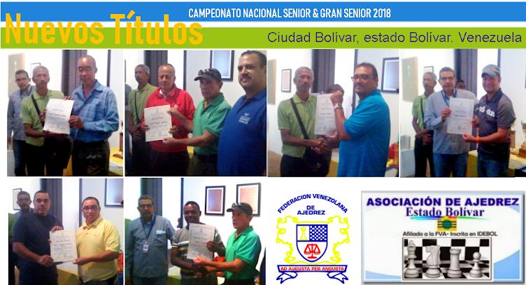 CAMPEONATO NACIONAL SENIOR & GRAN SENIOR EDO. BOLÍVAR