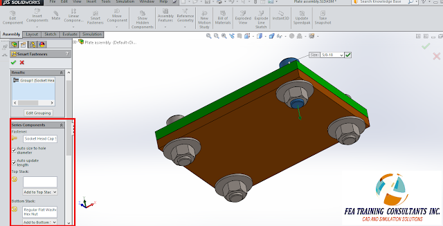 smart fasteners toolbox solidworks