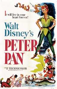 Original Film Poster Peter Pan 1953 animatedfilmreviews.blogspot.,com