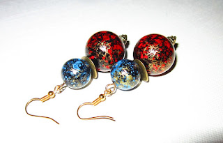 Fireworks Earrings: Statement Making Vintage Lucite Earrings by bohemianearth on etsy