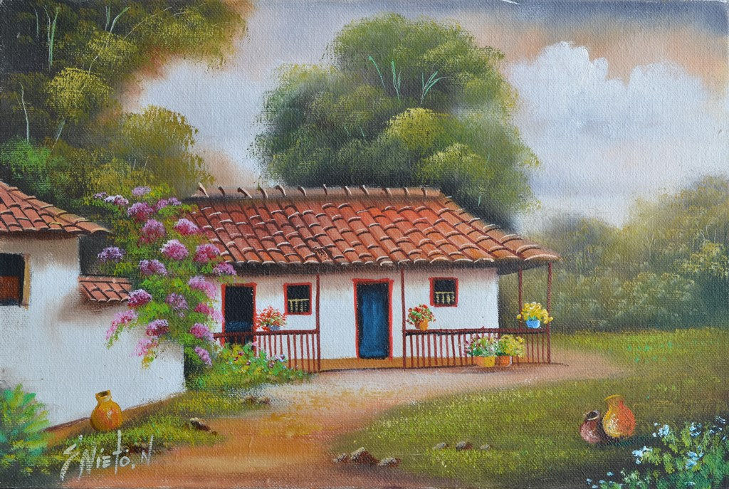 Im genes arte pinturas paisaje comercial campesino - Ambientadores naturales para la casa ...