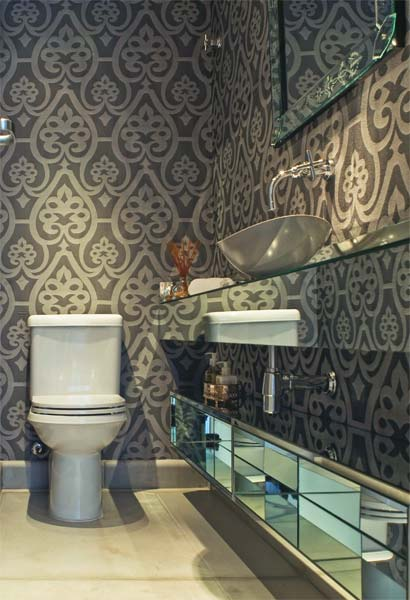 Decora o decore seu lavabo com papel parede - Papel decorado para paredes ...