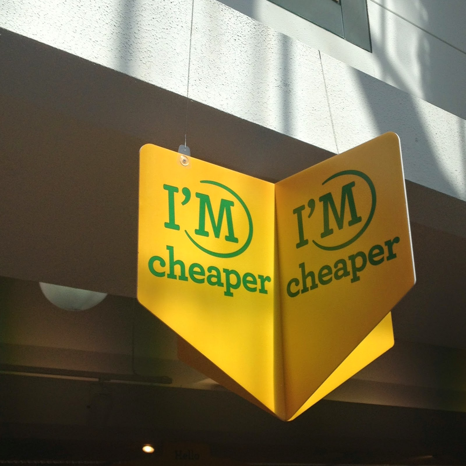 "Morrisons High signage ""I'm cheaper"""