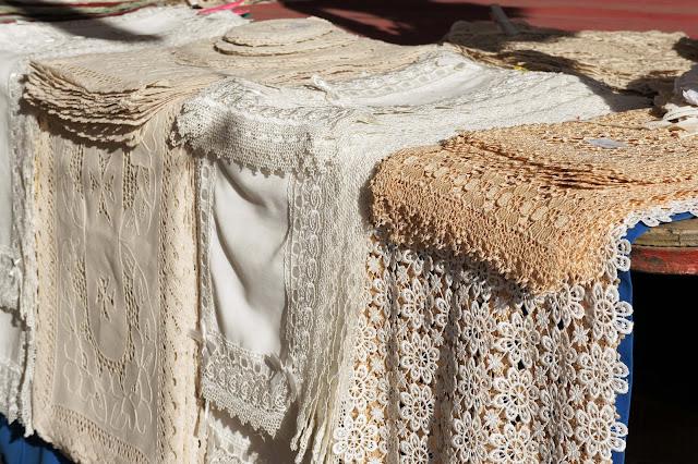 maltese lace at marsaxlokk market