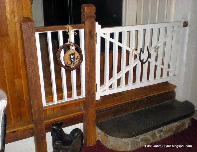 DIY Wood dog Baby gate