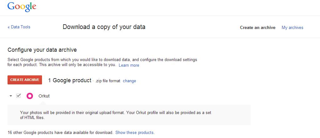 Orkut data, Orkut photos, download orkut data