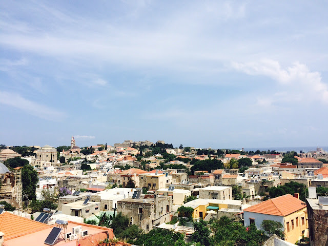 View of Rhodes City, Greece from Minos Pension