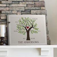 Custom Family Tree Canvas Print