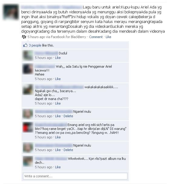 Status Facebook BBM paling Lucu Terbaru 2012