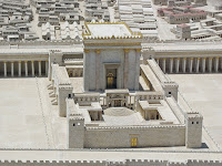 a photo of a model of the second Jewish Temple in the Israeli Museum