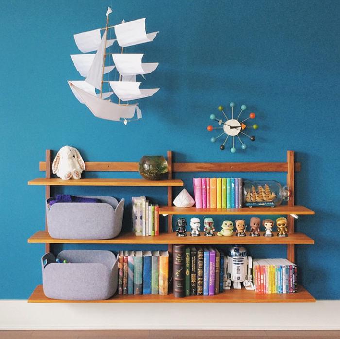 vintage shelf  in an nursery room