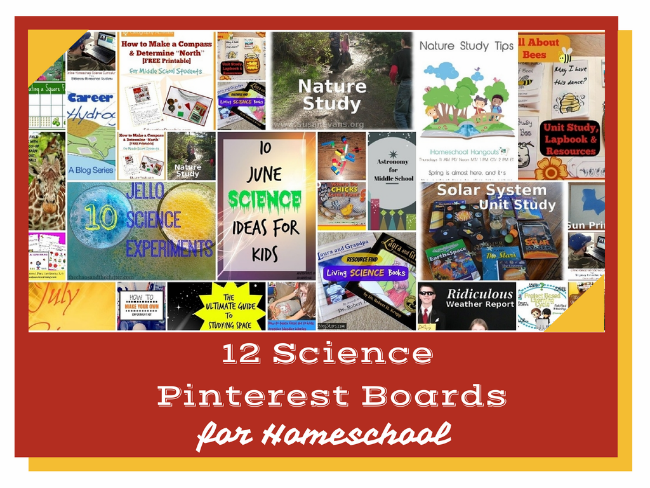 Need science inspiration? Check out these 12 science Pinterest boards for homeschooling.