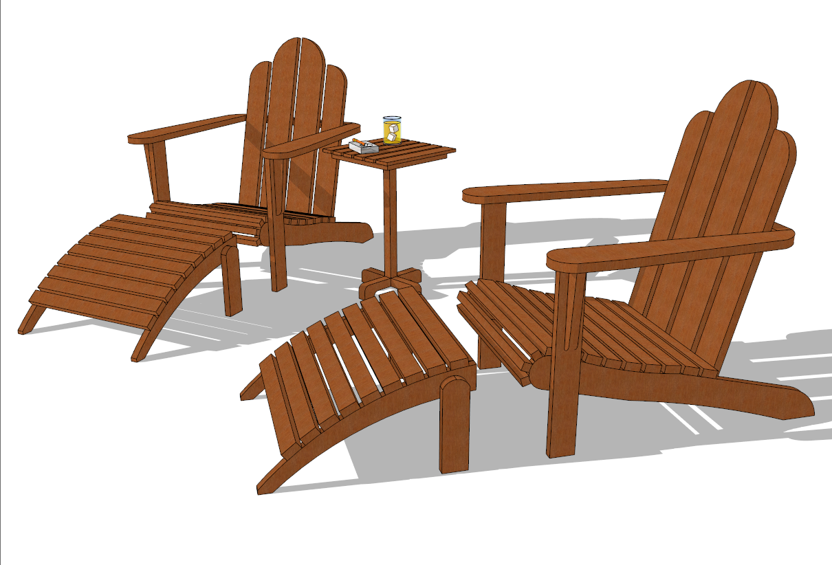 Sample Design Chair Form Google Sketchup Pro Drawing And Graphics