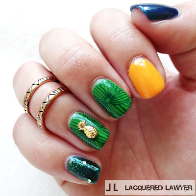 Pineapple Nail Art