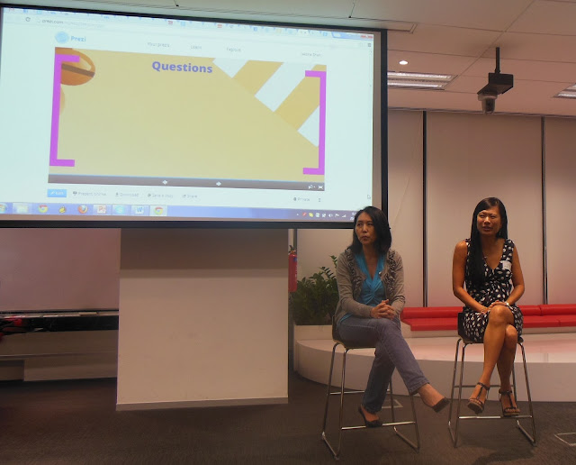 Guest speakers Irene Xu from Citi and Virginia Yang from Ebay, Girls Geek Coffee, Singapore, First Meetup @ Asia One Square, Google office, GGC, GGCS