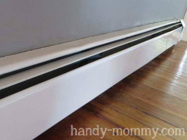 Handy mommy july 2013 for Paint baseboard heater