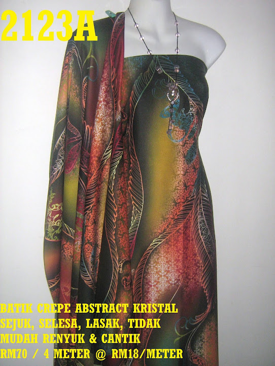 2123A: BATIK CREPE ABSTRACT KRISTAL,  4 METER