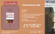 PRESENTACIÓN DEL LIBRO DERECHO Y SOCIEDAD (21-octubre 6 pm. Casa de la Cultura Jurídica GDL)