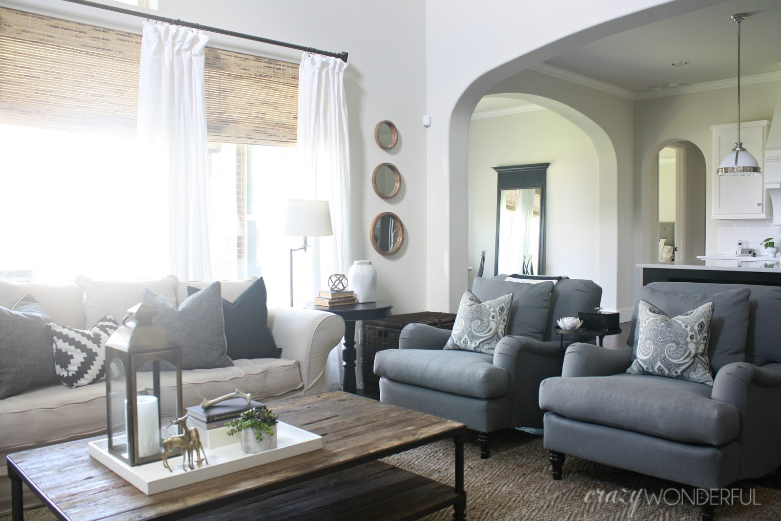 My living room curtains crazy wonderful for Pottery barn style living room ideas