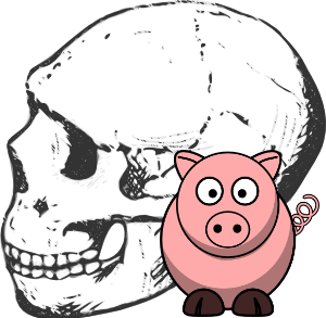 Looking back on the Darwinian hoedown involving evidence and dating of Skull KNM-ER 1470. Fundamentally flawed radiometric dating gives way to: pigs. Circular reasoning is prominent.