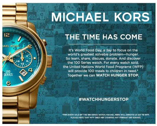 ea8de94dff45 Join Michael Kors to watch hunger stop - Fashion   Art
