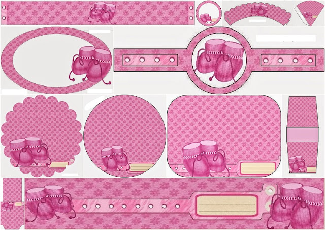 Baby Shoes in Pink: Free Printable Kit.
