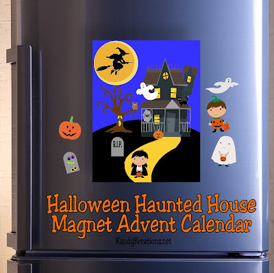Let your kids count down to Halloween with this fun Haunted House advent calendar. Once printed on to magnet paper, each piece can be added to the Haunted house to count down the last 13 days until Trick or Treating!