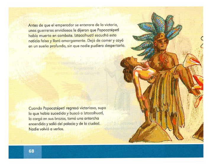 La leyenda de los volcanes español lecturas 2do bloque 5/2014-2015
